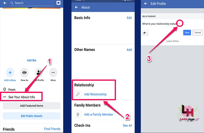Ways To Change Your Relationship Status On Facebook App image